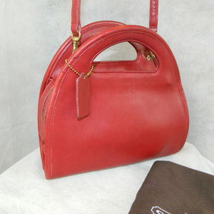 COACH Vintage Carousel Bag #9942 ~ Brass ~RED